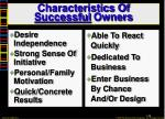 characteristics of successful owners