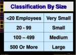 classification by size