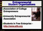 entrepreneurial student organizations