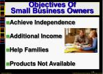 objectives of small business owners