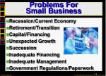 problems for small business