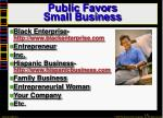 public favors small business