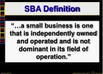 sba definition