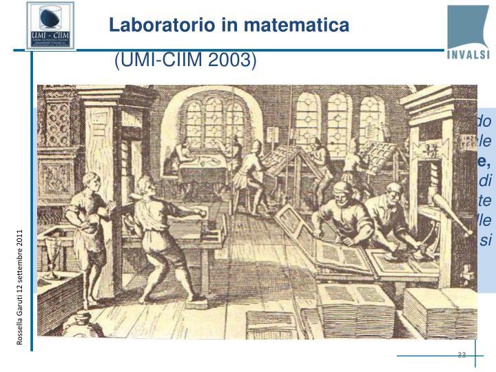Laboratorio in matematica