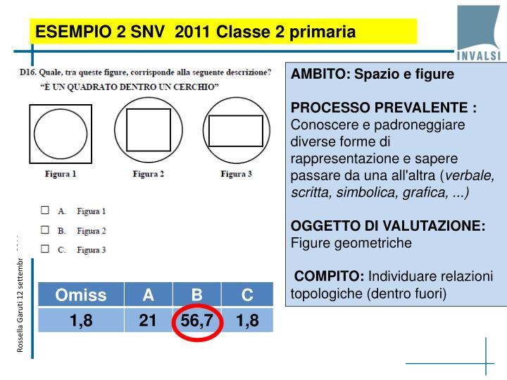 ESEMPIO 2 SNV  2011 Classe 2 primaria