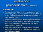 aplicaciones de la evaluaci n psicoeducativa continuaci n1