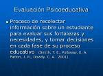 evaluaci n psicoeducativa