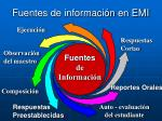 fuentes de informaci n en emi