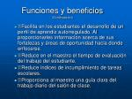 funciones y beneficios continuaci n