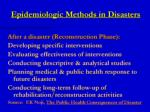 epidemiologic methods in disasters1
