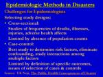 epidemiologic methods in disasters3