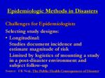 epidemiologic methods in disasters4