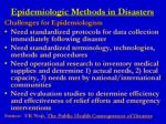 epidemiologic methods in disasters5