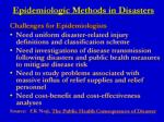 epidemiologic methods in disasters7