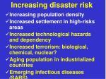 increasing disaster risk