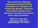 william h foege m d international journal of epidemiology 1976 5 29 37