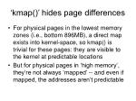 kmap hides page differences