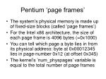 pentium page frames