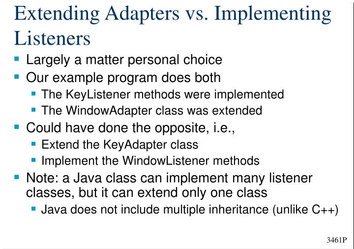 Extending Adapters vs. Implementing Listeners