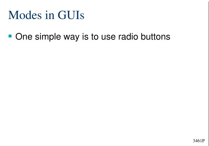 Modes in GUIs
