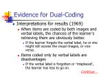 evidence for dual coding2