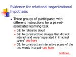 evidence for relational organizational hypothesis