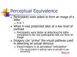 perceptual equivalence1