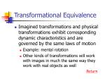 transformational equivalence