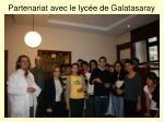 partenariat avec le lyc e de galatasaray