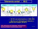 tolerancia cental m o