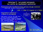 historique 5 les grands instruments les centres de rayonnement synchrotron
