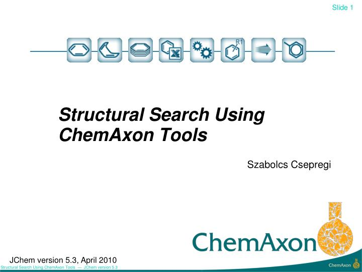 structural search using chemaxon tools n.