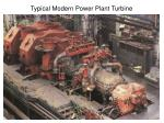 typical modern power plant turbine