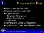 communications plans
