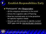 establish responsibilities early1
