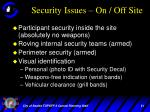 security issues on off site
