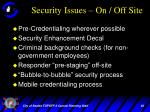 security issues on off site1