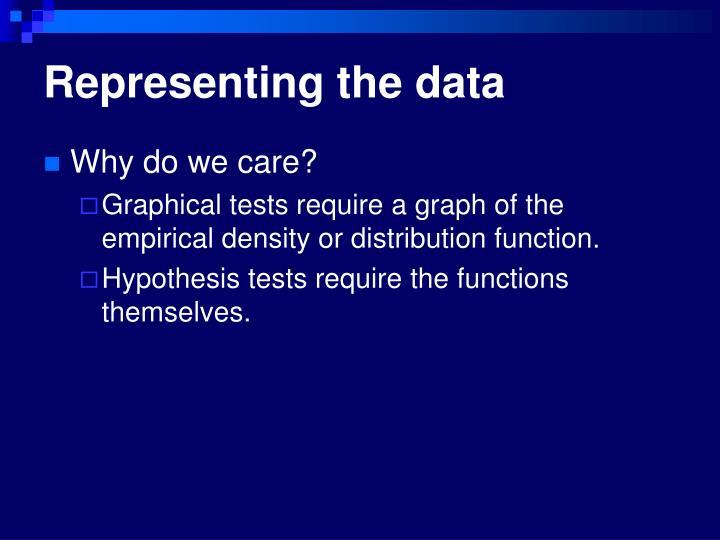 Representing the data