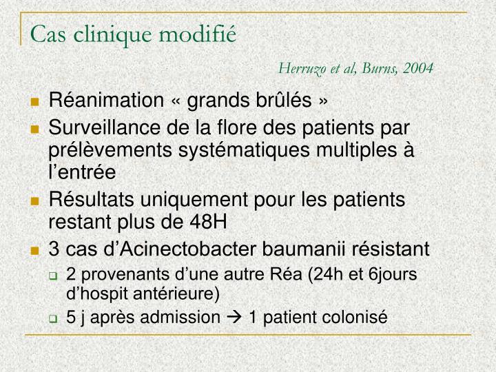 Cas clinique modifié