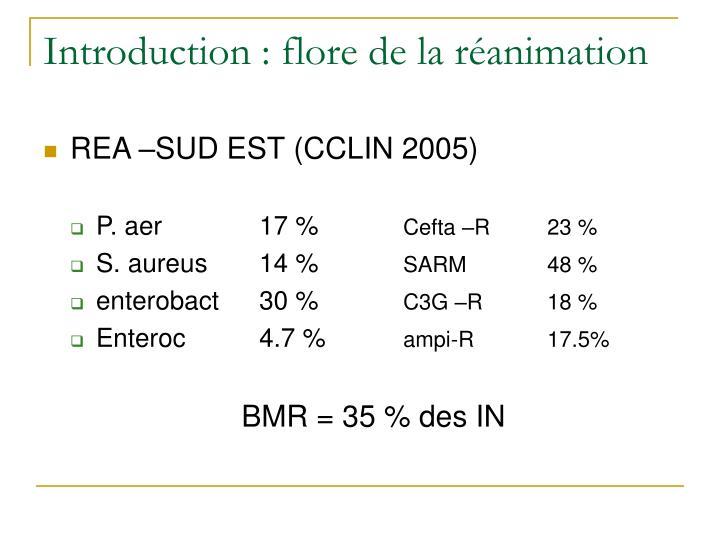 Introduction : flore de la réanimation