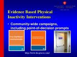 evidence based physical inactivity interventions1