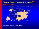 obesity trends among u s adults brfss 2000