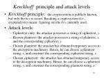 kerckhoff principle and attack levels