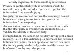security requirements for transmitting information