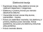 elektronin teorija