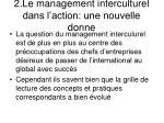 2 le management interculturel dans l action une nouvelle donne
