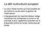 le d fi multiculturel europ en