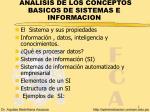 analisis de los conceptos basicos de sistemas e informacion