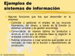 ejemplos de sistemas de informaci n