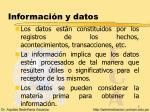 informaci n y datos